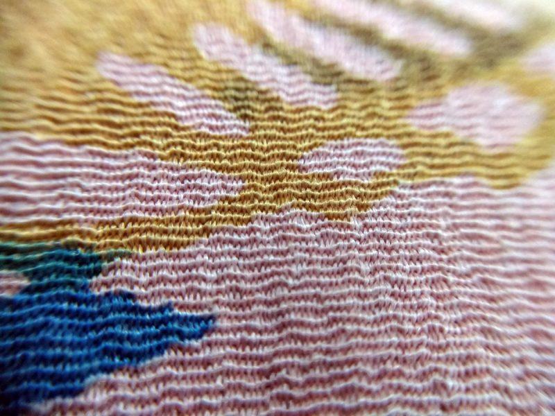 Papillon da uomo sartoriale da annodare - Seta giapponese ricavata da un kimono vintage fantasia floreale rosa e blu da cerimonia 100% Made in Italy