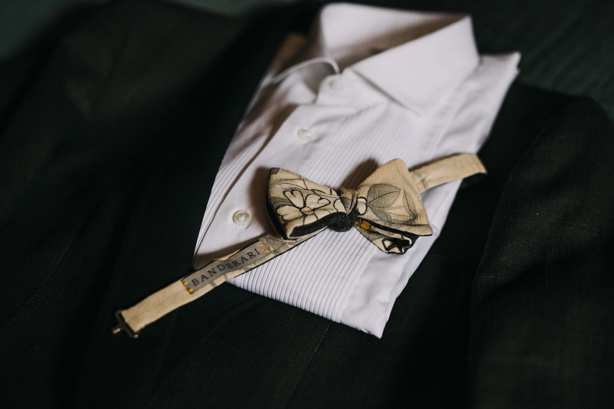 the dress and ceremony accessories for the groom