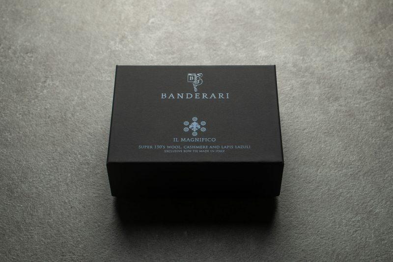 Confezione del papillon Banderari Il Magnifico della collezione Luxus