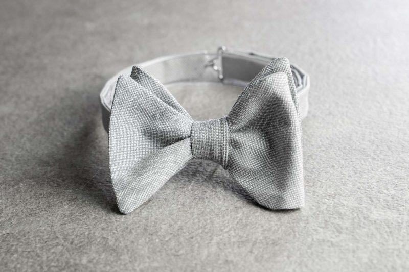 Papillon da uomo Banderari Casanova della collezione Luxus di colore grigio perla