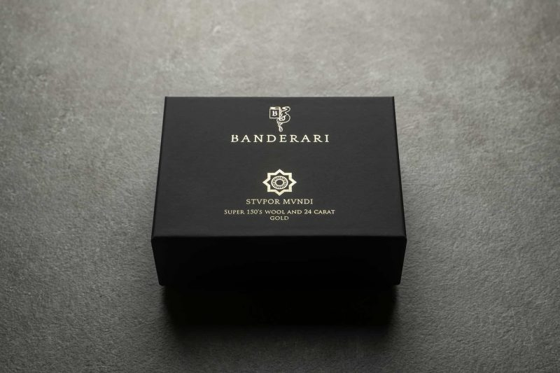 Confezione del papillon Banderari Stvpor Mvndi della collezione Luxus